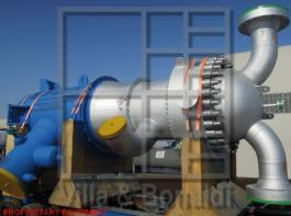 High pressure steam superheater with high temperature stainless steel U tubes for an ammonia plant in Brazil