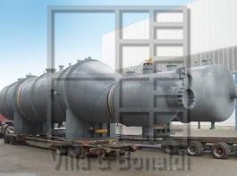 Carbamate condensers with special stainless steel tubes and cladding for an Urea plant in Iraq