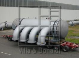 Polyol stripper condenser with titanium tubes and floating head for a chemical plant in Singapore